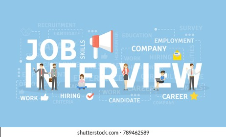 Job interview concept illustration. Application and CV.