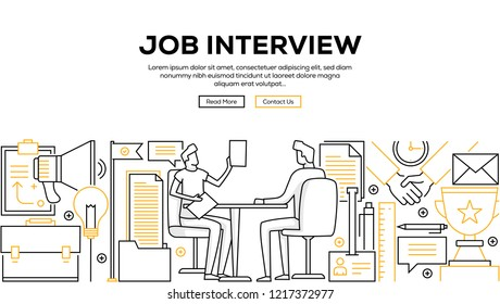 JOB INTERVIEW INFOGRAPHIC CONCEPT