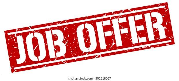 job offer. grunge vintage job offer square stamp. job offer stamp.