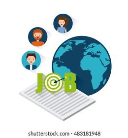 job opportunity flat icons vector illustration design