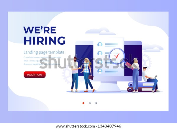 Job Presentation Fair Banner Page Choose Stock Vector Royalty Free 1343407946