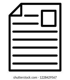 Job Profile Isolated Vector Icon That can be easily Modified or Edited.
