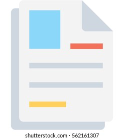 Job Profile Vector Icon