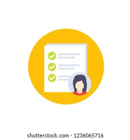 job qualifications icon, vector