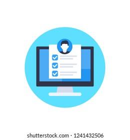 job qualifications vector icon