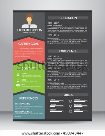 job resume cv layout template a 4 のベクター画像素材 ロイヤリティ