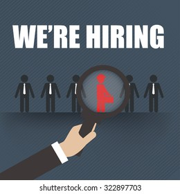 Job Search Career Hiring Opportunity ,business concept.