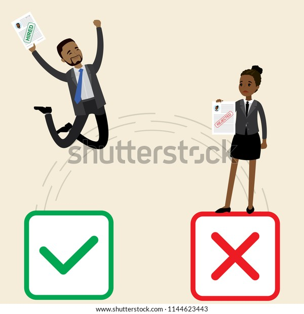 Job Search Concept Human Resourcesafrican American Stock Vector