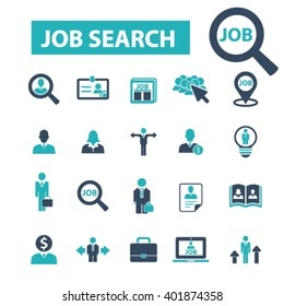 job search icons