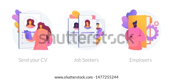 Job Searching Employment Service Recruitment Agency Stock Vector
