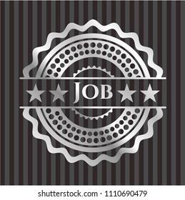 Job silvery shiny emblem