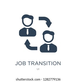 job transition icon vector on white background, job transition trendy filled icons from UI collection, job transition vector illustration