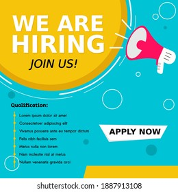 Job vacancy templates. We are hire jobs that are used on social media content.