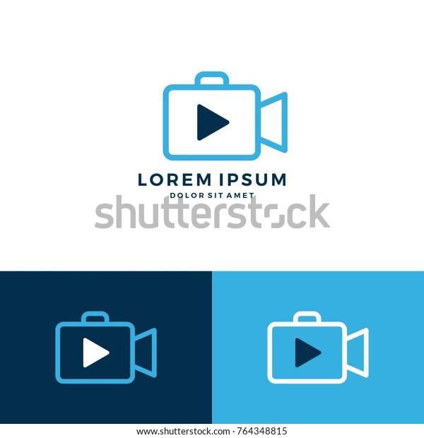 Job Video Camera Play Logo Vector Stock Vector (Royalty Free
