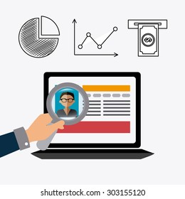 Job and work design, vector illustration eps 10.