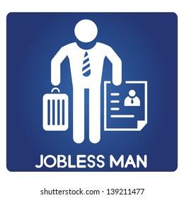 jobless man, unemployed