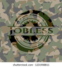 Jobless on camo texture