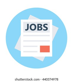 Jobs Application Vector Icon