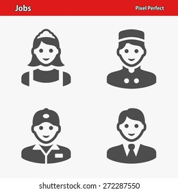 Jobs Icons. Professional, pixel perfect icons optimized for both large and small resolutions. EPS 8 format.
