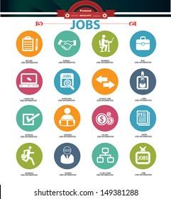 Jobs icons,vector