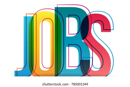 Jobs word concept