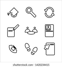 jobseeker simple icon set design