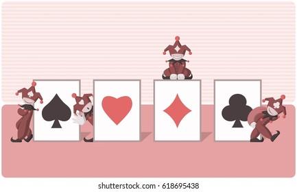 Jocker Of Gambling Card Art - Vector