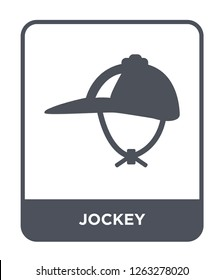 jockey icon vector on white background, jockey trendy filled icons from Camping collection, jockey simple element illustration