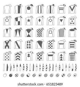 Jockey Uniform Traditional Design Jackets Silks Sleeves And Hats Horse Riding