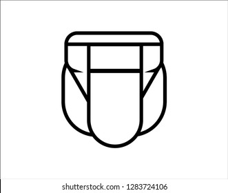 Jockstrap Modern Simple Vector Icon