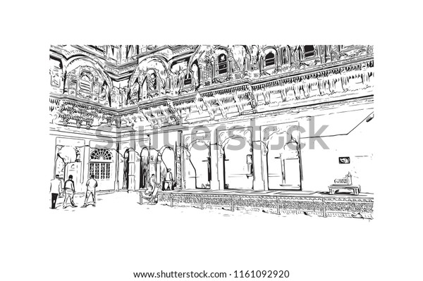 Jodhpur City Thar Desert Northwest Indian Stock Vector
