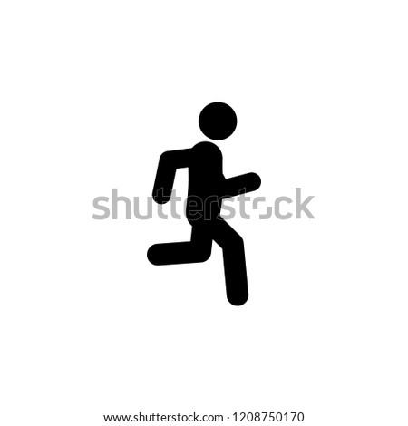 jog run icon element walking running stock vector royalty free