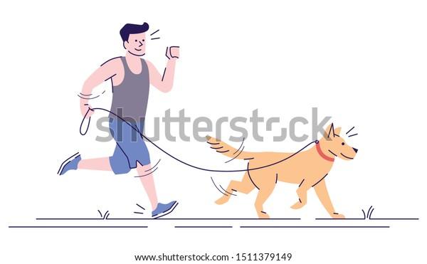 Vector De Stock Libre De Regalias Sobre Hombres Caucasicos Trotando Con Ilustracion Vectorial1511379149