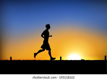 Jogging man. Vector eps 10