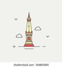 jogja landmark icon, vector eps