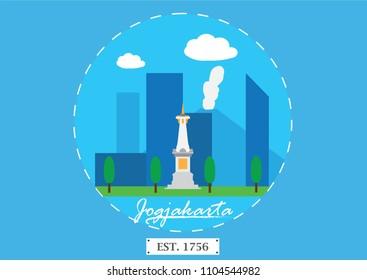 Jogjakarta, Indonesia: An icon of Jogjakarta City.