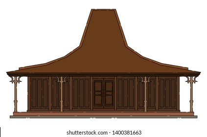 joglo house vector images stock photos vectors shutterstock https www shutterstock com image vector joglo javanese traditional building isolated vector 1400381663