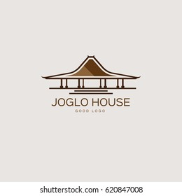 Joglo Traditional House Logo Design Template