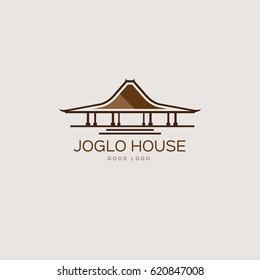 Joglo Traditional House Logo Design Template