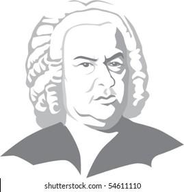 Johann Sebastian Bach in vector