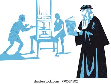 Johannes Gutenberg, the first European to use movable type