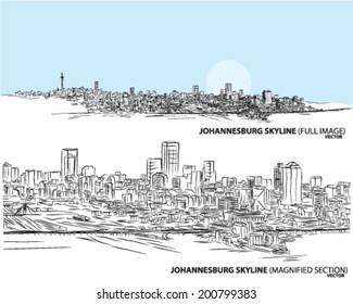 Johannesburg skyline cityscape landscape