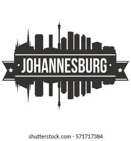 Johannesburg Skyline Stamp Silhouette City Design Vector Art