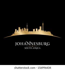 Johannesburg South Africa city skyline silhouette. Vector illustration