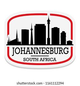 Johannesburg South Africa Label Stamp Icon Skyline City Design Tourism