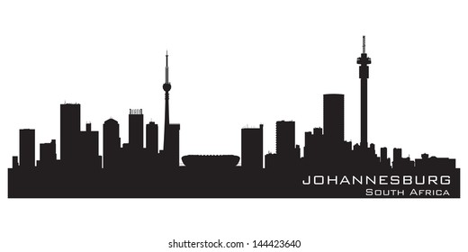Johannesburg, South Africa skyline. Detailed silhouette. Vector illustration