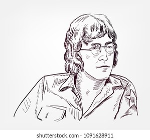 John Lennon vector sketch portrait