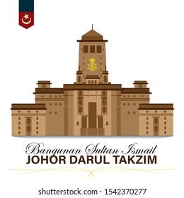 Johor Bahru Malaysia, Sultan Ismail Building Vector Drawing