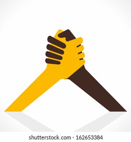 join hand or hand shake vector