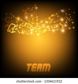Join hand togetther team concept vector background